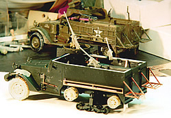Construction of the author's M3A1; in background is kit built in 1991.